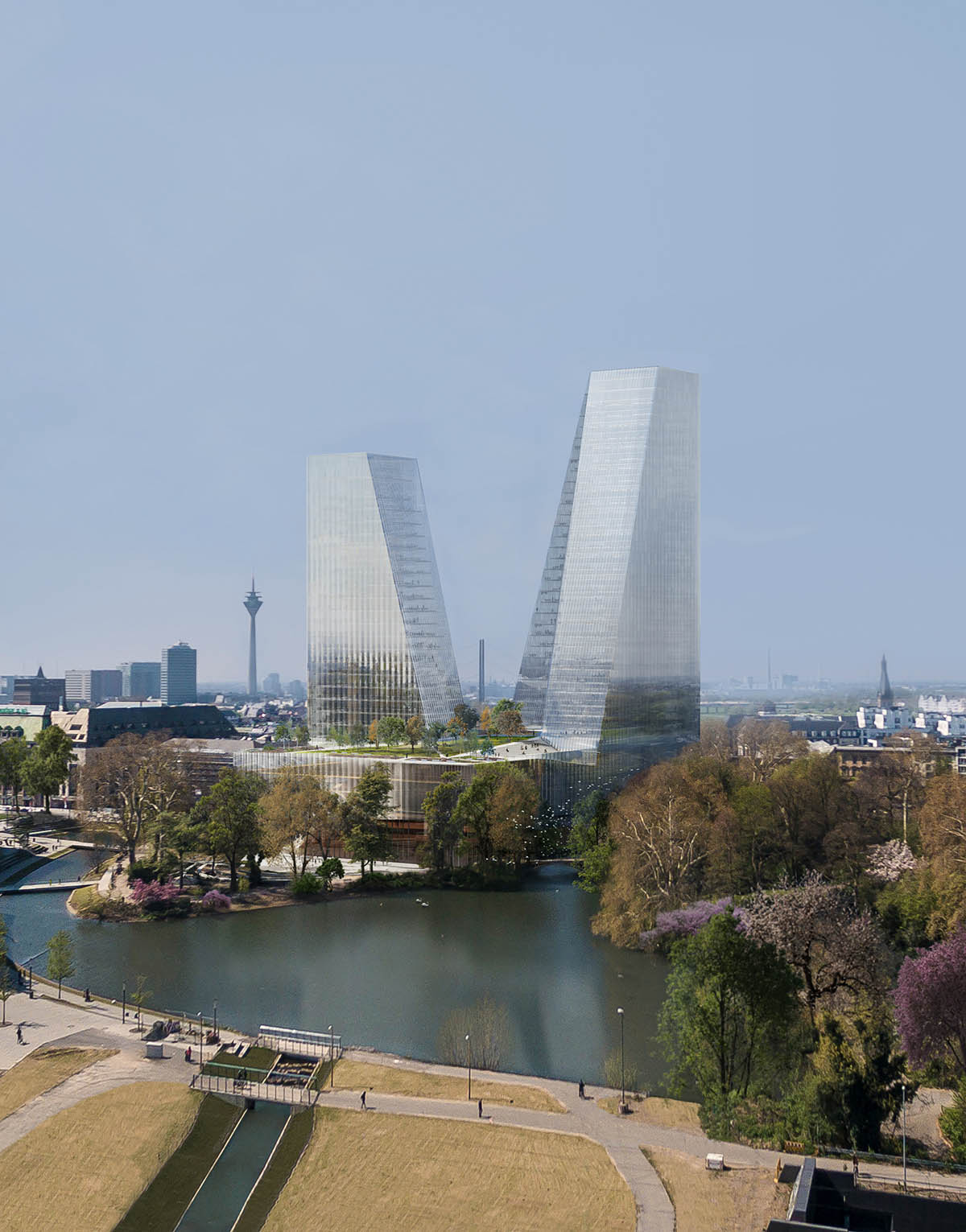 Snøhetta designs new Opera House in Düsseldorf with a pair of iconic dancing towers